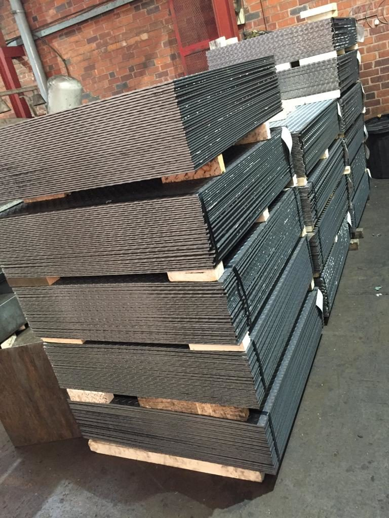 Material for mezzanine floor and stair treads, awaiting quality checks