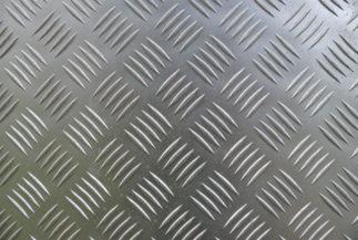 Aluminium texture of a metal non-slip treads plate